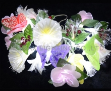 fiber flower shape lights